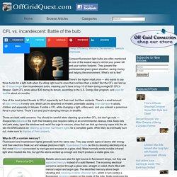 CFL vs. incandescent: Battle of the bulb