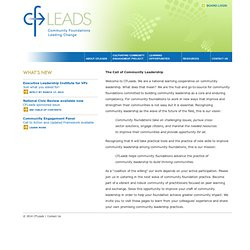 CFLeads: Community Foundations Leading Change