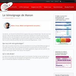 CFLHTA Le témoignage de Manon - CFLHTA