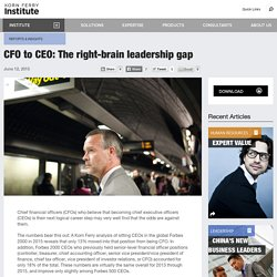CFO to CEO: The right-brain leadership gap