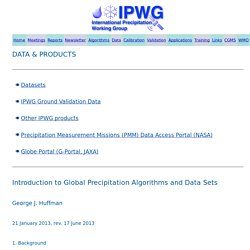 CGMS-IPWG, Data