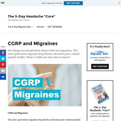 CGRP and Migraines