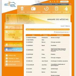 CH Aix en Provence » Médecins