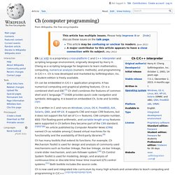 Ch (computer programming)