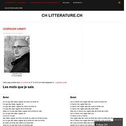CH litterature.ch » Leopoldo Lonati