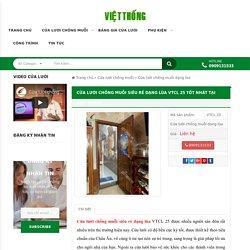 Cửa lưới chống muỗi siêu rẻ dạng lùa VTCL 25 TỐT NHÂT tại Việt Thống