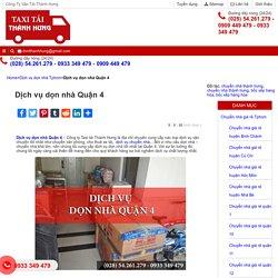 Taxi Tải Thành Hưng TAXI Tải Thành Hưng - 0933 349 479