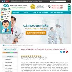 Địa chỉ phòng khám nam khoa uy tín tại Hà Nội
