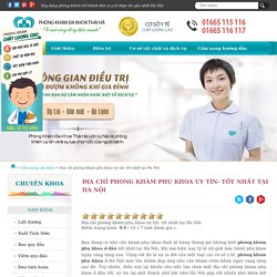 Địa chỉ phòng khám phụ khoa uy tín- tốt nhất tại Hà Nội