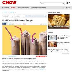 Chai Frozen Milkshakes Recipe