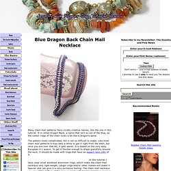 Chain mail – dragon back necklace