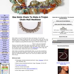 Chain mail – Helm chain necklace