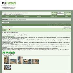 Chain Leg Vise for Roubo Bench - talkFestool