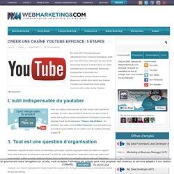 Créer une chaîne Youtube efficace: 5 étapes