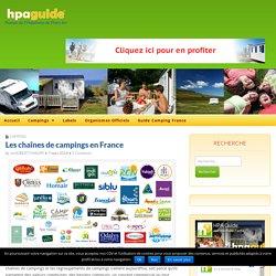 Les chaînes de campings en France - HPA Guide - Portail de l'Hôtellerie de Plein Air