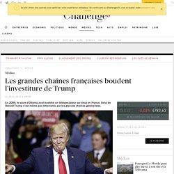Les grande chaînes françaises boudent l'investiture de Trump