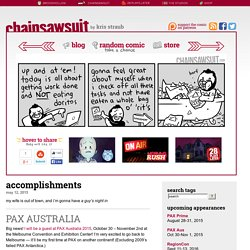 three panels daily » accomplishments