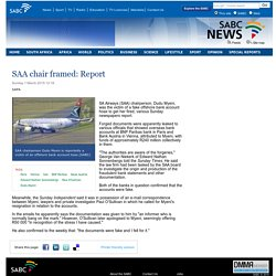 SAA chair framed: Report:Sunday 1 March 2015