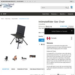 Intimate Rider Sex Chair For Disabled