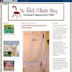 The Red Chair Blog: A Great DIY Laundry System for Small Spaces