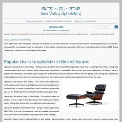 Chair Upholstery Simi Valley