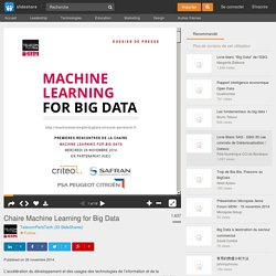 Chaire Machine Learning for Big Data