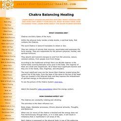 Chakra balancing healing