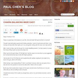CHAKRA BALANCING MADE EASY! » Paul Chek's Blog