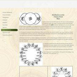 Chakra Petal Sounds – Freedom Vidya