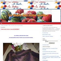 Châle facile à faire en laine BIG MOMENT - La Malle aux Mille Mailles