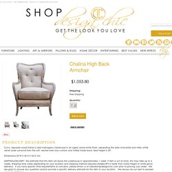 Chalina High Back Armchair - Design Chic