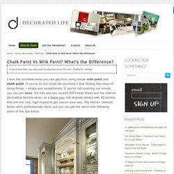 Chalk Paint Vs Milk Paint? What's the Difference? -Decorated Life