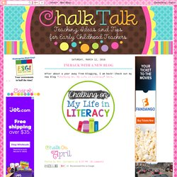 Chalk Talk: A Kindergarten Blog