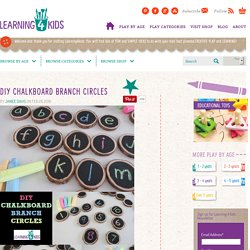 DIY Chalkboard Branch Circles