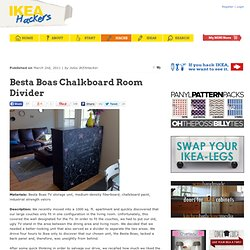 Besta Boas Chalkboard Room Divider