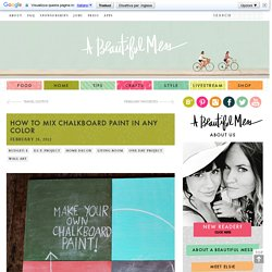 How To Mix Chalkboard Paint in Any Color - A Beautiful Mess