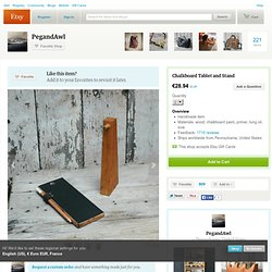 Chalkboard Tablet and Stand Reclaimed wood and by PegandAwl