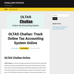 OLTAS Challan: Track Online Tax Accounting System Online