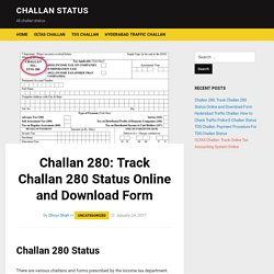 Challan 280: Track Challan 280 Status online and Download Form