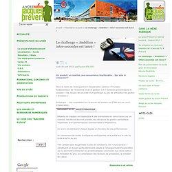 Le challenge « Ambition » inter-secondes est lancé ! - Lycée Jacques Prévert