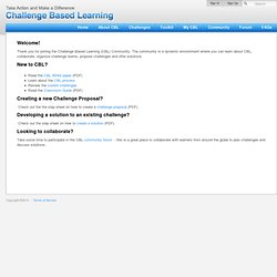 Challenge Based Learning - Next Steps