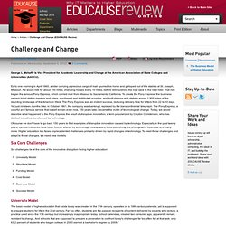 Challenge and Change (EDUCAUSE Review