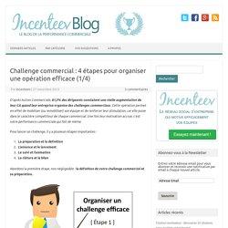 Challenge commercial : 4 étapes pour organiser une opération efficace
