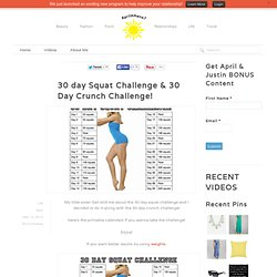 30 day Squat Challenge & 30 Day Crunch Challenge! - AprilAthena7