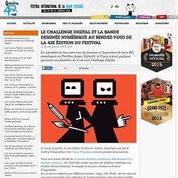 Le Challenge Digital et la bande dessinée numérique au rendez-vous de la 42e édition du Festival