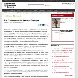 The Challenge of the Average Employee - Anthony Tjan