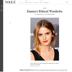 Emma Watson Green Carpet Challenge Ethical Dressing
