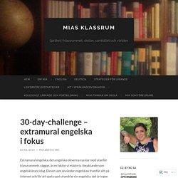 30-day-challenge – extramural engelska i fokus