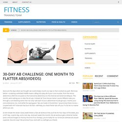 30-DAY AB CHALLENGE: ONE MONTH TO FLATTER ABS(VIDEOS) – FITNESS