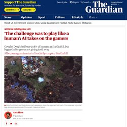 'The challenge was to play like a human': AI takes on the gamers